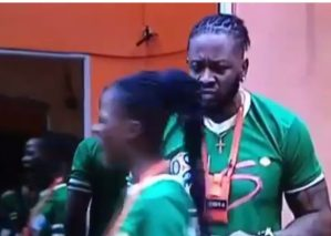 #BBNaija: Khloe confronts Teddy A over a piece of meat (Video)