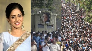 See the massive crowd that came out to mourn Bollywood Star Sridevi Kapoor (Photos)