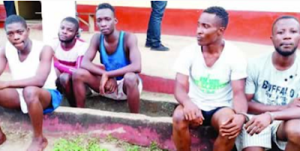 Yahoo Boys With Deadly Charms Arrested And Paraded In Rivers State (Photos)