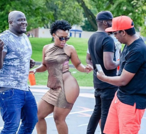, South African Pantless Dancer, Zodwa Goes Nude On The Set Of A Music Video (Photos), Effiezy - Top Nigerian News & Entertainment Website