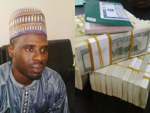 Nigeria Customs Nabs Man With $375,000 (N135m) Cash at Kaduna Int'l Airport; Hands Him Over To EFCC (Photos)