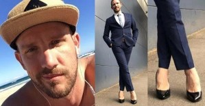 Meet The Man That Wears High Heels To Work Everyday Just Like A Woman (Photos)