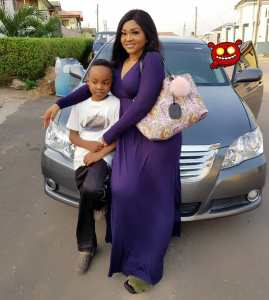 Mercy Aigbe steps out with her son (Photos)