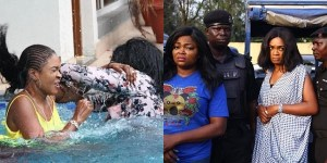 Funke Akindele & Omoni Oboli Arrested For Fighting In Swimming Pool (Photos)