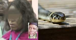 EFCC Arrests The lady Who Claims That Snake Swallowed N36m Left In Her Care
