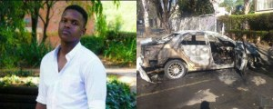 Taxify driver burnt to death in the boot of his car (Photos)