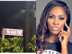 Tiwa Savage has a street named after her in Lagos (Photo & Video)