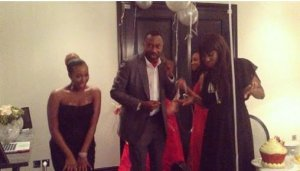 See Nigerian billionaire, Otedola dancing with his daughters [VIDEO]