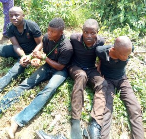 Vigilante Members Arrested After Attacking And Abducting A Man In Lagos (Photos)