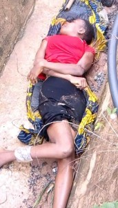 Dead Body Of A Young Lady Found Dumped Along Orlu/Owerri Road In Imo State (Graphic Photos)