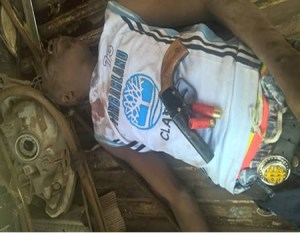 Armed Robber Dies While Trying To Escape In Ogun State (Photo)