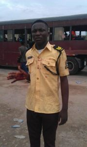 LASTMA Official Stabbed With Bottle By Danfo Driver (Graphic Photos)
