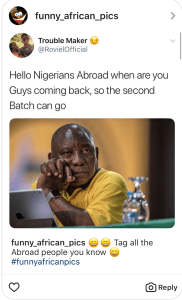 Just for laughs: Begging Nigerians Abroad