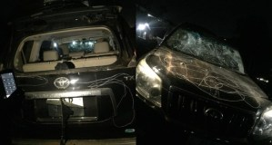 Angry Zambian wife destroys cheating husband's SUV (Photo)