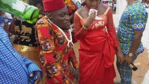 Physically Challenged Man All Smiles As He Marries His Pregnant Bride (Photos)