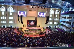 Wale Gates shades newly unveiled Deeper Life Bible Church auditorium