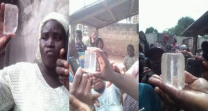 Church member claims that Jesus revealed himself in 'diamond stone' through a woman (photos)