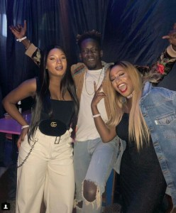 DJ Cuppy, Mr Eazi & His Girlfriend Temi Otedola Party Together In London (Photos)