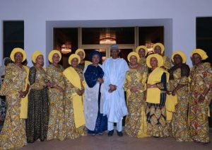 Buhari Meets With Wives Of 36 State Governors (Photos)