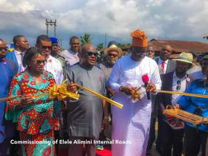 Fayose Commissions 19 Internal Roads In Rivers State (Photos)