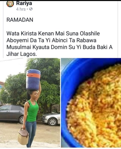 , #Ramadan: Christian Lady Shares Food To Muslims In Lagos (Photos), Effiezy - Top Nigerian News & Entertainment Website
