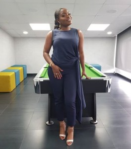 #BBnaija: Bisola stuns in jumpsuit in new photo (Photos)
