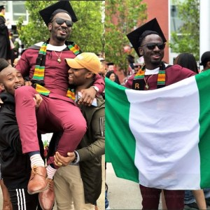 Nigerian man get job offers from Microsoft, Amazon after graduation (Photos)