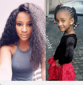 Check Out This Little Girl's Striking Resemblance With Adesua Etomi Wellington (Photos)