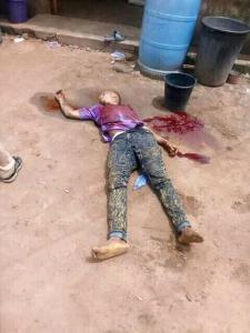 SAD! Cultists Gun Down Young Man, Dosky In Akwa, Anambra State (Graphic Photos)