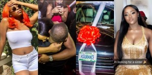 Nigerians blast Davido's first babymama Sophia Momodu after he gifted Chioma a Porsche (See Tweets)