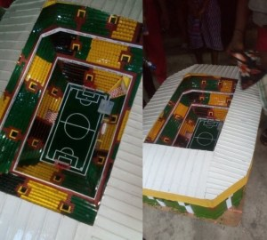 14-Year-old boy constructs a fully equipped prototype stadium in Aba (Photos)