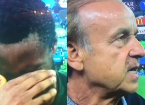 Mikel Obi holds back his tears while speaking after Nigeria's defeat to Argentina (Video)