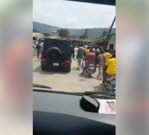 Watch As Kogi Youths Guard Dino Melaye After Police Withdraws His Security (VIDEO)