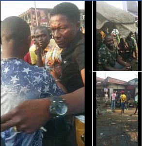 , Naval Officer Molested By Angry Crowd After Slapping An Apprentice In Delta. (Photos), Effiezy - Top Nigerian News & Entertainment Website