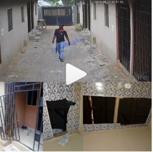 Watch As CCTV Captures SARS Break Into A House In Search Of Edo Yahoo Boys (Photos, Video)