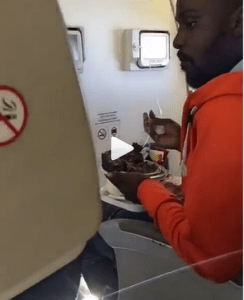 #WorldCup: Nigeria Fans On Their Way To Russia Spotted Eating Pounded Yam On The Plane (Video)