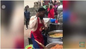 Check Out D'banj showing off his cooking skills (Photos & Video)