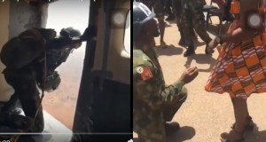 Nigerian Soldier Jumps From Plane With Parachute To Propose To His Girlfriend (Video)