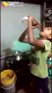 SHOCK: Watch As This young boy swallows a whole fish (Video)