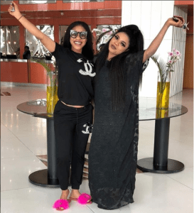 Tonto Dikeh professes love to Bobrisky as they step out in black