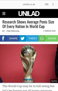 Average Manhood Size Of The Countries In World Cup (See Where Nigeria Is Placed)