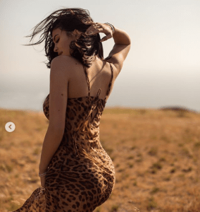 Kylie Jenner Puts Her Body On Display In A Leopard Skin Dress (Photos)