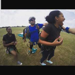 Man Jumps Out Of Aeroplane To Propose To His Girlfriend (Photos)