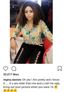 Actress, Regina Daniels Says She's 16 Years Old As She Shares New Photo (Photos)