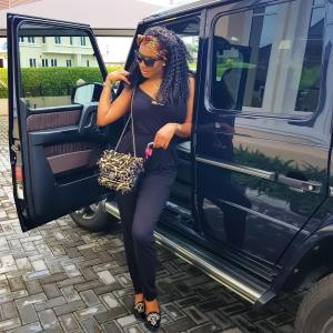 Chika Ike Poses With Her Benz G Wagon In New Adorable Photo