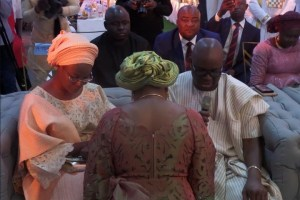 Fayose gives out his daughter's hand in marriage to Osun royal family (Photos)