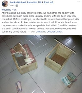 See How Much This Couple Found After They Opened Their Piggy Bank (Photo)