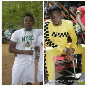 NYSC: Kizz Daniel Shares NYSC Throwback Photo As A Serving Youth Corper