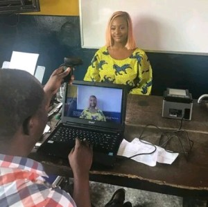 Check out the number of policemen that escorted DJ Cuppy to register for her PVC (Video)