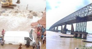 Motorists And Residents Stranded As Niger Bridge Collapses (Photos)